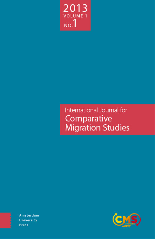 Cover of Comparative Migration Studies, Vol. 1, No. 1
