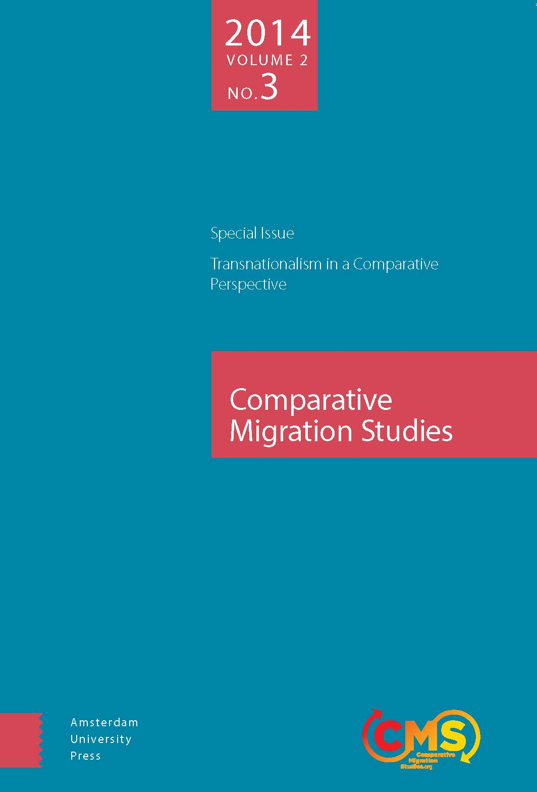 Cover of Comparative Migration Studies, Vol. 2, No. 3