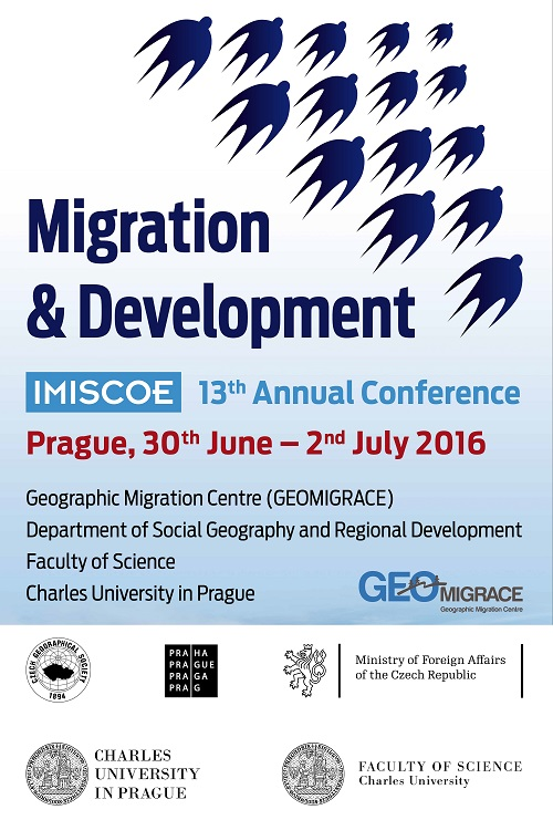 the 13th imiscoe annual conference took place in prague 30 june 2 july 2016 the conference covered the theme migration and development and was