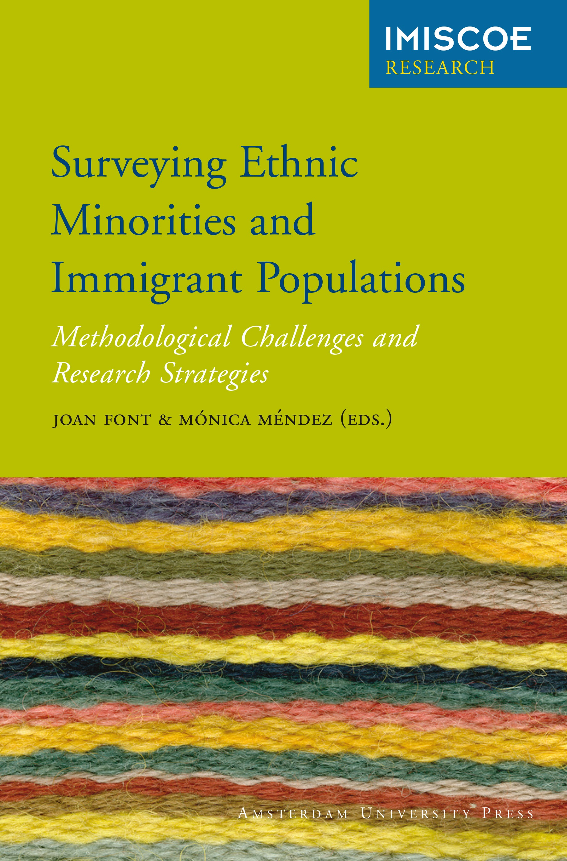 Cover of Surveying Ethnic Minorities and Immigrant Populations