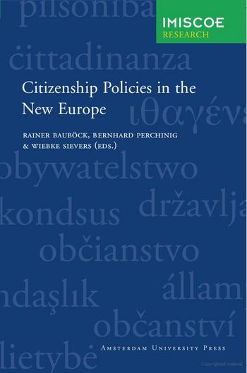 Cover of Citizenship Policies in the New Europe